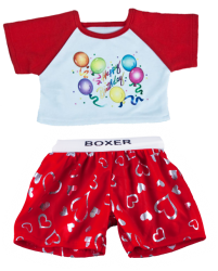 Red Birthday T Shirt w/Boxers