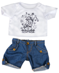 Pirate 'Colour me' T Shirt and Jeans
