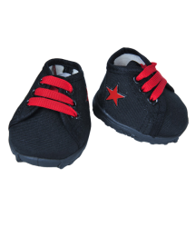 'Red Star' Black Tennis Shoes